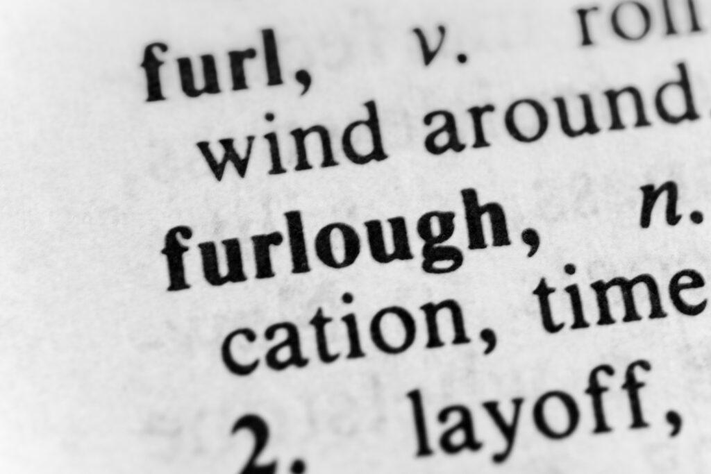 Furlough dictionary image